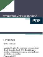 Estructura de un recurso