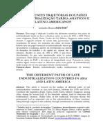Santos-2008-As Diferentes Trajetorias Dos Paises de Industrializacao Tardia