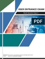 Iiser Sample Paper 2