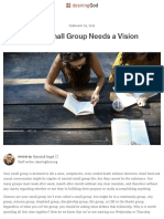 Every Small Group Needs a Vision | Desiring God