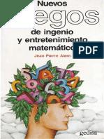 Jean-Pierre Alem - Nuevos Juegos de Ingenio y Entretenimiento Matemático