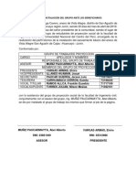 Acta de Instalacion Del Grupo Ante Los Beneficiarios