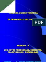 Modulo 9- Los Actos Procesales.ppt · Versión 1