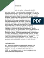 CLASIFICACIÓN DE COSTOS