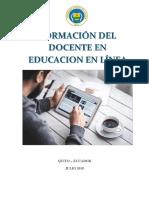 formación del docente en educación en linea