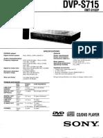 Sony DVD Player DVP-S715 Schematic