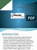 GRASIM SUITINGS