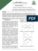 Informe 5. Isomeros Geometricos (Isomero Trans)