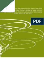 Temas y acciones prioritarios para contribuir a iniciativas de conservación de biodiversidad en territorios colectivos del Pacífico.