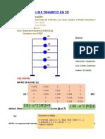 FORMULAS 3.2 Analisis Dinamico Portico 2D-5N