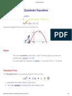 1. Quadratic Equations