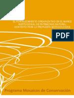 El fortalecimiento organizativo en el marco institucional de Patrimonio Natural