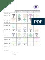 Class Program 2019-2020 1st Sem