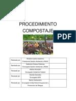 Procedimiento compostaje