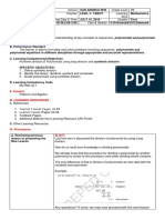 Lesson Plan in Dividing Polynomials Using Synthetic Division
