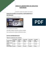 Cuarto Informe de Laboratorio de Circuitos Eléctricos