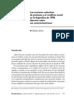Artese - Análisis de movimientos sociales y protesta social en la Argentina en la década de 1990.