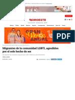 Migrantes de La Comunidad LGBTI