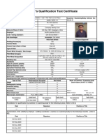 Typical Welder Qualification Certificate