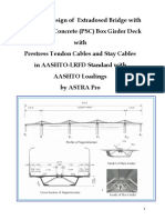 Extradosed Bridge Design Reports in AASHTO-LRFD