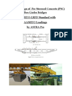 PSC Box Girder Bridge With Abutment & Pier Design in AASHTO-LRFD