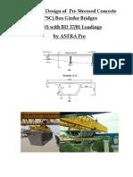 PSC Box Girder Bridge With Abutment & Pier Design in BS