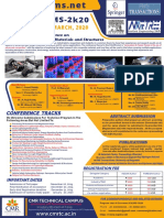 1st International Conference on Advanced Light-weight Materials and Structures