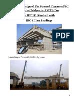 PSC I-Girder Bridge Design in IRC