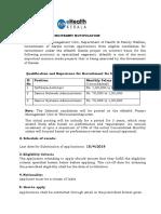 Recruitment Senior Posts Revised