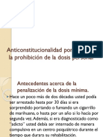 Anticonstitucionalidad  Prohibición de La