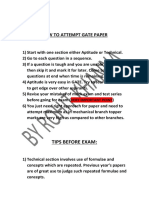 HOW TO ATTEMPT GATE PAPER AND TIPS BEFORE EXAM.pdf