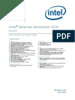 Ethernet Connection i219 Datasheet