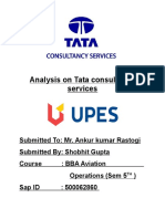 TATA Consiltancy Services Report Marketing Management