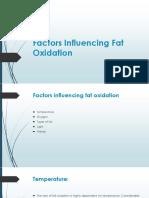 Factors Influencing Fat Oxidation