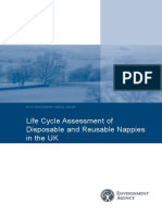 Assessment of Disposable and Reusable Nappies