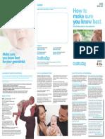 Start 4 Life - Grandparents Guide to Breastfeeding Leaflet