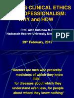 Ethics Professionalism 2012