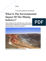 Disadv of Mining