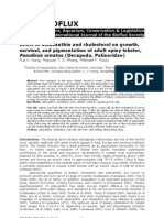Nguyen Tan Duy Phong_Effect of thin and Cholesterol on Growth, Survival, And Pigmentation of Adult Spiny Lobster, Panulirus Ornatus a Palinuridae