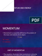 Momentum and Energy