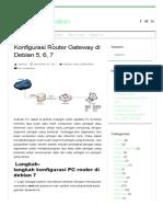 Konfigurasi Router Gateway Di Debian 5, 6, 7Share My Inspiration _ Share My Inspiration
