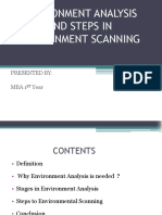 Environment Analysis and Steps in Environment Scanning