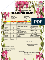 Class Program of Grade 10