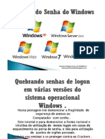 Quebrando Senha do Windows by Patrick Ataíde