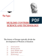 Muslim Contribitions to science and technology