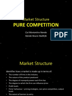 Microeconomic pure competition market