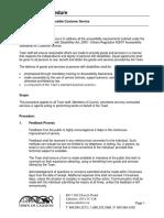 Accessible Customer Service - Corporate Procedure