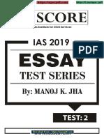 02 Essay 2019 GS SCORE (Upscpdf.com)