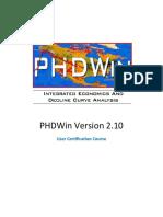 Phdwin User Manual