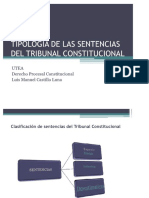Tipologias de Las Sentencias Del Tc